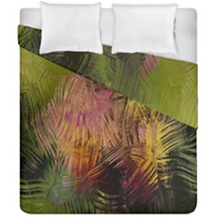 Abstract Brush Strokes In A Floral Pattern  Duvet Cover Double Side (california King Size) by Simbadda