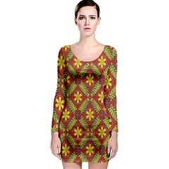 Beautiful Abstract Pattern Background Wallpaper Seamless Long Sleeve Bodycon Dress by Simbadda