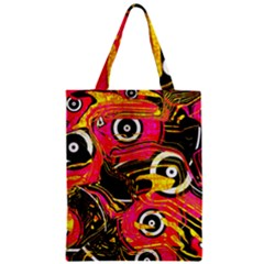 Abstract Clutter Pattern Baffled Field Zipper Classic Tote Bag
