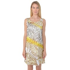 Abstract Composition Pattern Sleeveless Satin Nightdress by Simbadda