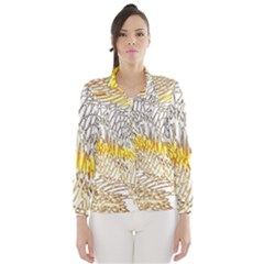 Abstract Composition Pattern Wind Breaker (women)