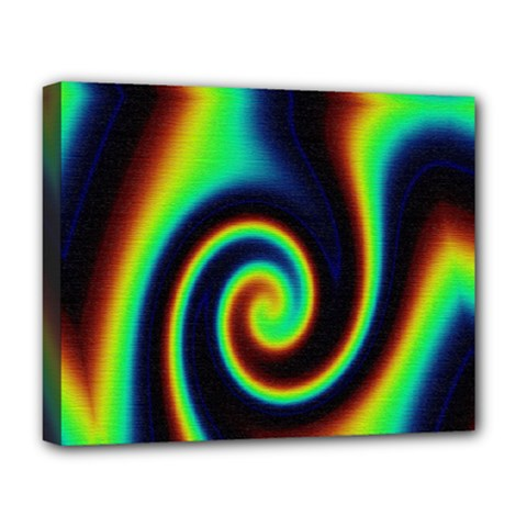 Background Colorful Vortex In Structure Deluxe Canvas 20  X 16   by Simbadda