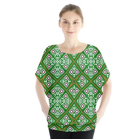 Digital Computer Graphic Seamless Geometric Ornament Blouse by Simbadda