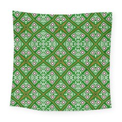 Digital Computer Graphic Seamless Geometric Ornament Square Tapestry (large) by Simbadda