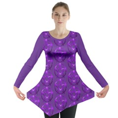 Mystic Purple Pagan Pentacle Wiccan Long Sleeve Tunic  by cheekywitch