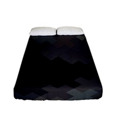 Abstract Pattern Moving Transverse Fitted Sheet (full/ Double Size) by Simbadda