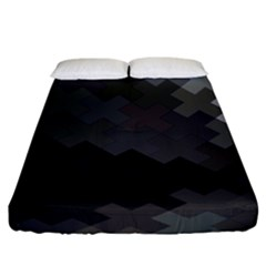 Abstract Pattern Moving Transverse Fitted Sheet (king Size)