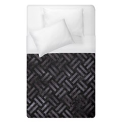 Woven2 Black Marble & Black Watercolor Duvet Cover (single Size) by trendistuff