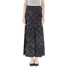 Woven2 Black Marble & Black Watercolor Full Length Maxi Skirt by trendistuff