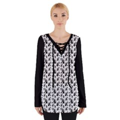 Pagan Pentacle Cat And Broomstick Wiccan Women s Tie Up Tee by cheekywitch