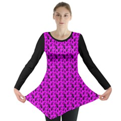 Pagan Pentacle Cat And Broomstick Wiccan Long Sleeve Tunic  by cheekywitch