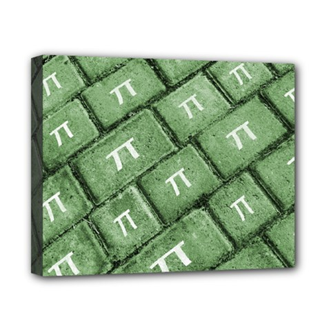 Pi Grunge Style Pattern Canvas 10  X 8  by dflcprints