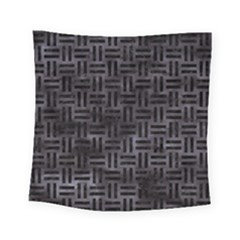 Woven1 Black Marble & Black Watercolor (r) Square Tapestry (small) by trendistuff