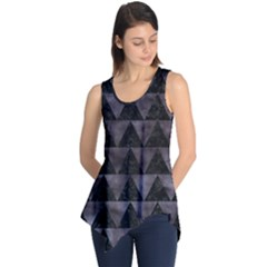 Triangle2 Black Marble & Black Watercolor Sleeveless Tunic