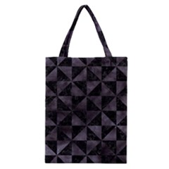 Triangle1 Black Marble & Black Watercolor Classic Tote Bag by trendistuff