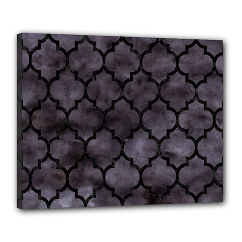 Tile1 Black Marble & Black Watercolor (r) Canvas 20  X 16  (stretched) by trendistuff
