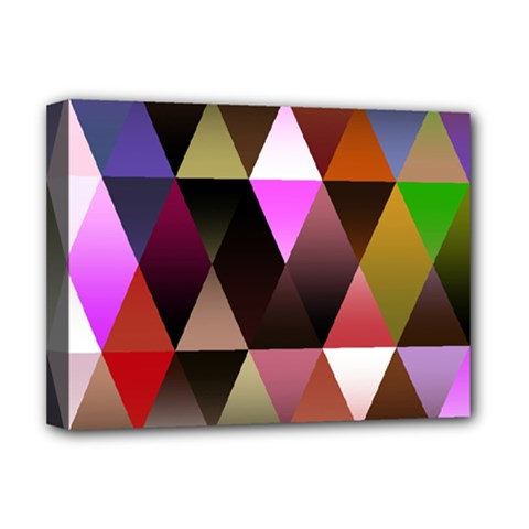 Triangles Abstract Triangle Background Pattern Deluxe Canvas 16  X 12