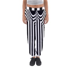 Stripe Abstract Stripped Geometric Background Women s Jogger Sweatpants by Simbadda