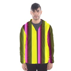 Stripes Abstract Background Pattern Hooded Wind Breaker (men) by Simbadda