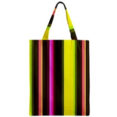Stripes Abstract Background Pattern Zipper Classic Tote Bag by Simbadda