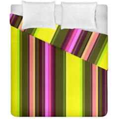 Stripes Abstract Background Pattern Duvet Cover Double Side (california King Size) by Simbadda