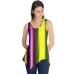 Stripes Abstract Background Pattern Sleeveless Tunic