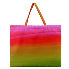 Watercolour Abstract Paint Digitally Painted Background Texture Zipper Large Tote Bag by Simbadda