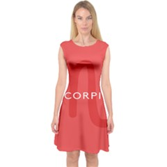 Zodiac Scorpio Capsleeve Midi Dress by Mariart