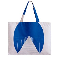 Bridge Sea Beack Blue White Zipper Mini Tote Bag by Mariart