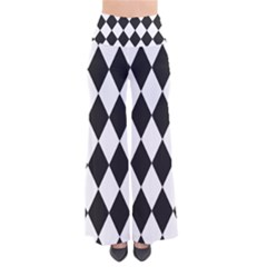Broken Chevron Wave Black White Pants by Mariart