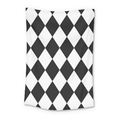 Broken Chevron Wave Black White Small Tapestry by Mariart