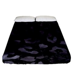 Skin5 Black Marble & Black Watercolor (r) Fitted Sheet (queen Size) by trendistuff