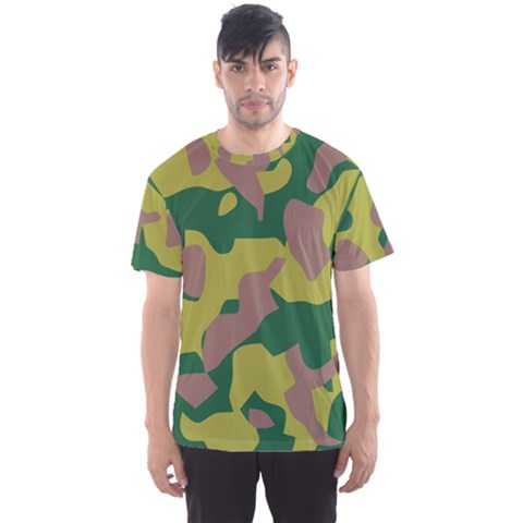 Camouflage Green Yellow Brown Men s Sport Mesh Tee by Mariart