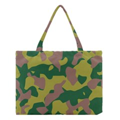 Camouflage Green Yellow Brown Medium Tote Bag by Mariart