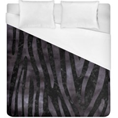 Skin4 Black Marble & Black Watercolor (r) Duvet Cover (king Size) by trendistuff