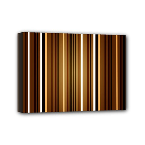 Brown Line Image Picture Mini Canvas 7  X 5  by Mariart