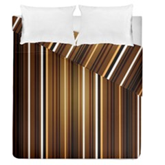 Brown Line Image Picture Duvet Cover Double Side (queen Size) by Mariart