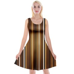 Brown Line Image Picture Reversible Velvet Sleeveless Dress by Mariart