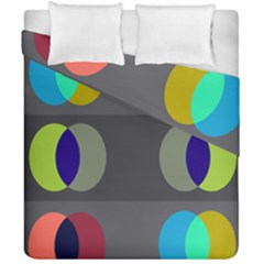 Circles Line Color Rainbow Green Orange Red Blue Duvet Cover Double Side (california King Size) by Mariart