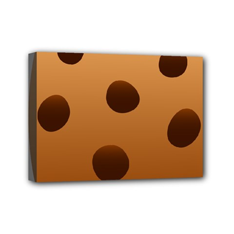 Cookie Chocolate Biscuit Brown Mini Canvas 7  X 5  by Mariart