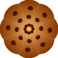 Cookie Chocolate Biscuit Brown Straight Umbrellas by Mariart