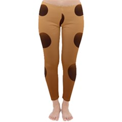 Cookie Chocolate Biscuit Brown Classic Winter Leggings by Mariart