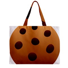 Cookie Chocolate Biscuit Brown Zipper Mini Tote Bag by Mariart