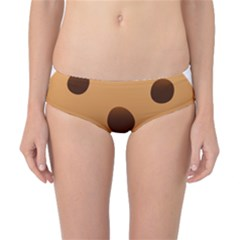 Cookie Chocolate Biscuit Brown Classic Bikini Bottoms by Mariart