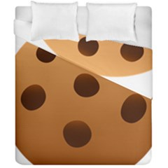 Cookie Chocolate Biscuit Brown Duvet Cover Double Side (california King Size) by Mariart
