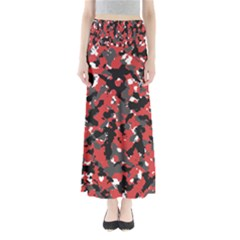 Bloodshot Camo Red Urban Initial Camouflage Maxi Skirts by Mariart