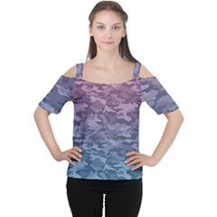 Celebration Purple Pink Grey Women s Cutout Shoulder Tee by Mariart