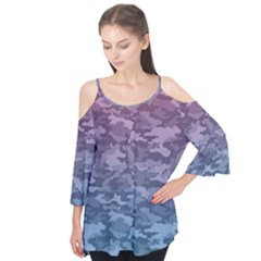 Celebration Purple Pink Grey Flutter Tees by Mariart