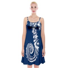 Coral Life Sea Water Blue Fish Star Spaghetti Strap Velvet Dress by Mariart