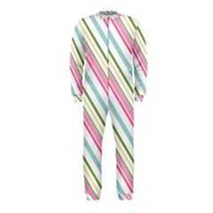 Diagonal Stripes Color Rainbow Pink Green Red Blue Onepiece Jumpsuit (kids) by Mariart